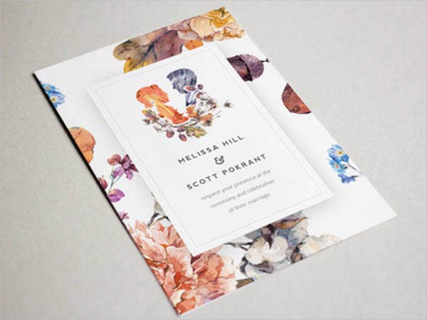 floral vintage wedding invitations
