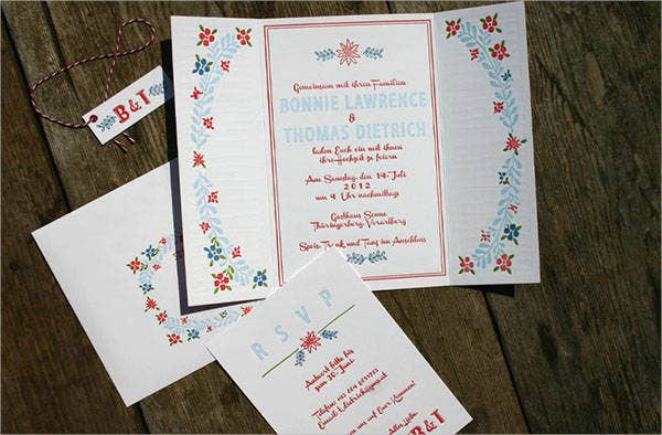 floral-letterpress-wedding-invitations
