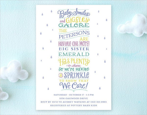 Sprinkle Stack Baby Shower Invitation