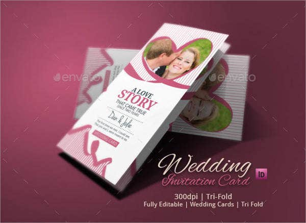 tri folded wedding invitations