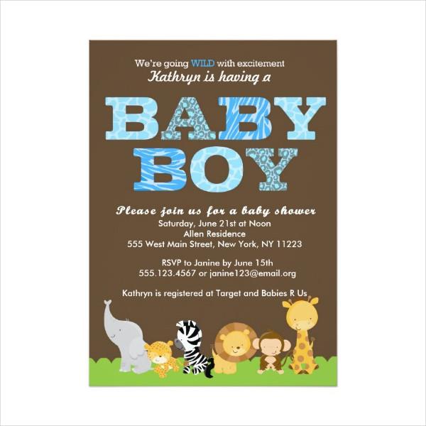 Modern Safari Baby Shower Invitation