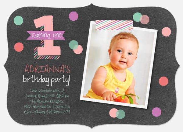 Baby 1st Birthday Invitation