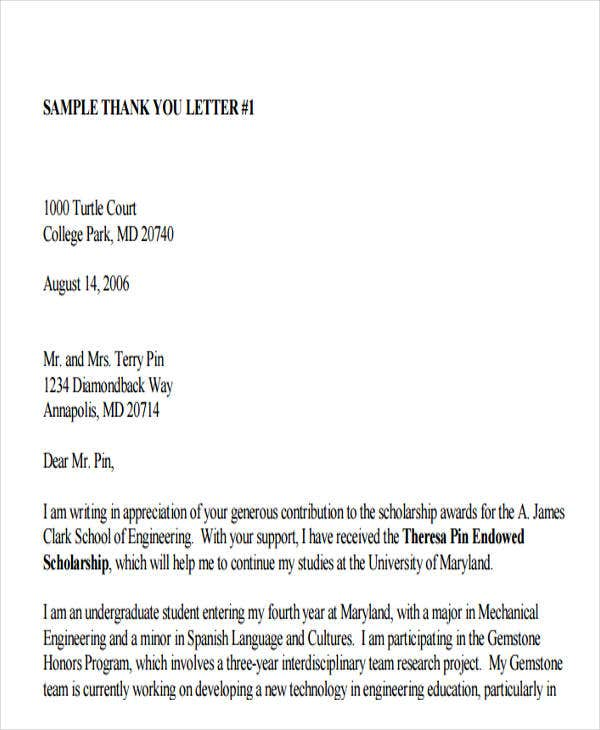 corporate donation thank you letter