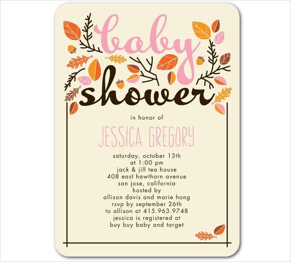 Baby shower invitations free psd vector ai eps format download autumn baby boy shower invitation filmwisefo Gallery