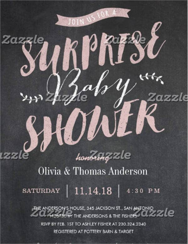 surprise office baby shower invitation