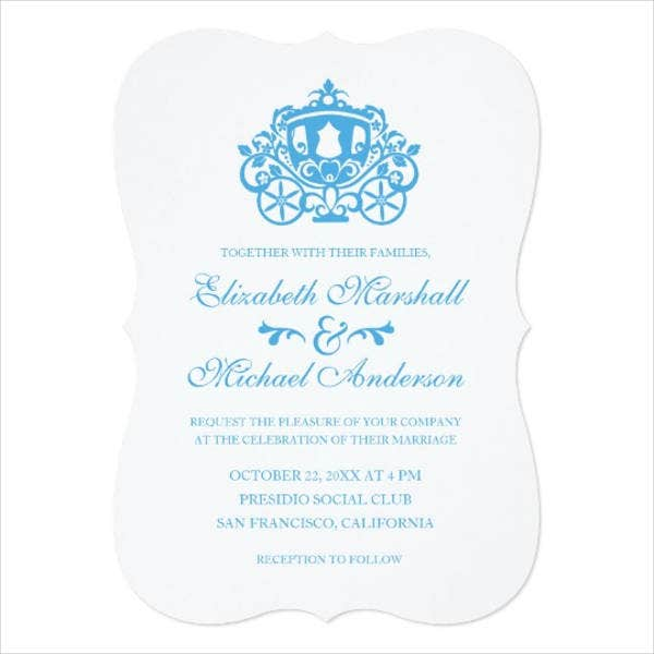 disney cinderella wedding invitations1