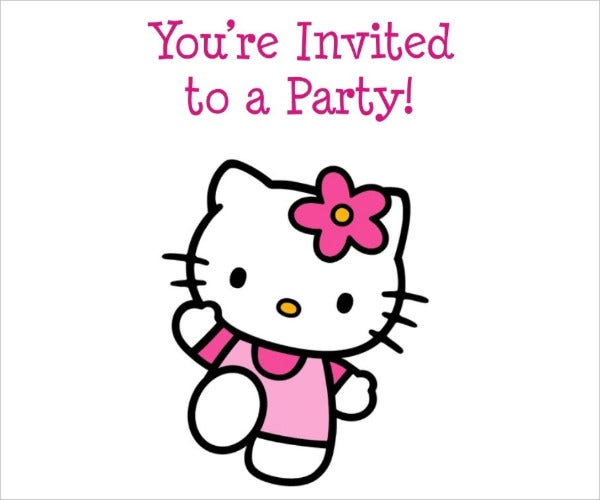 Sample Hello Kitty Birthday Invitation