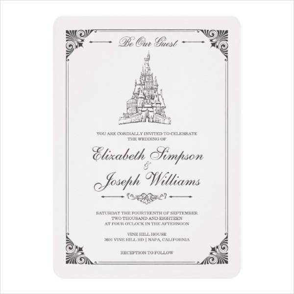 disney castle wedding invitations1