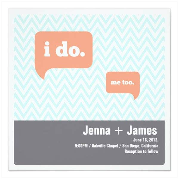 modern square wedding invitations