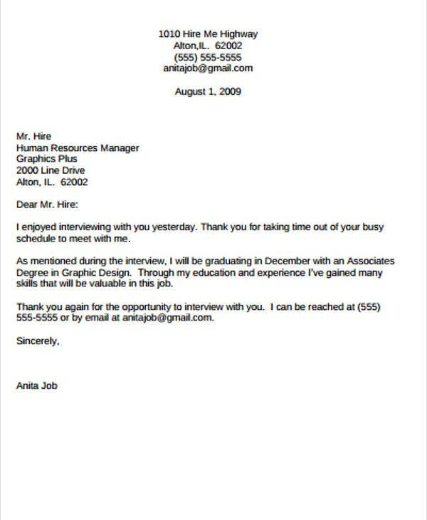 sample email thank you letter for job offer