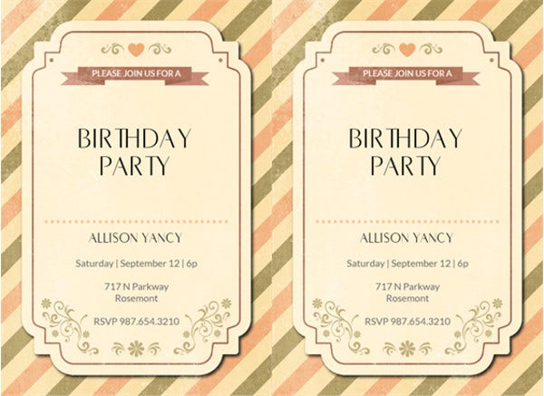 Free Rustic Birthday Invitation