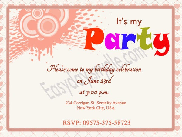 Birthday Invitation Templates  Free  Premium Templates