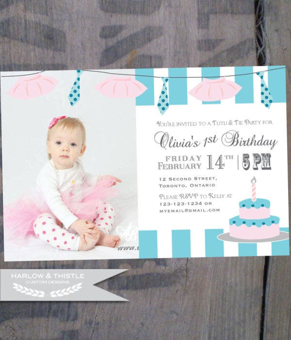 55 birthday invitation templates free premium templates 1st birthday invitation email stopboris Images