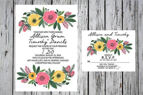 printable special wedding invitations