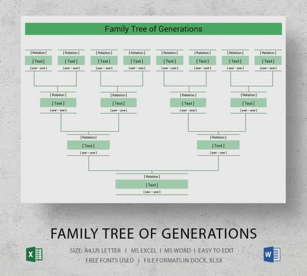 Simple Family Tree Template - 25+ Free Word, Excel, PDF ... | 600 x 539 jpeg 22kB