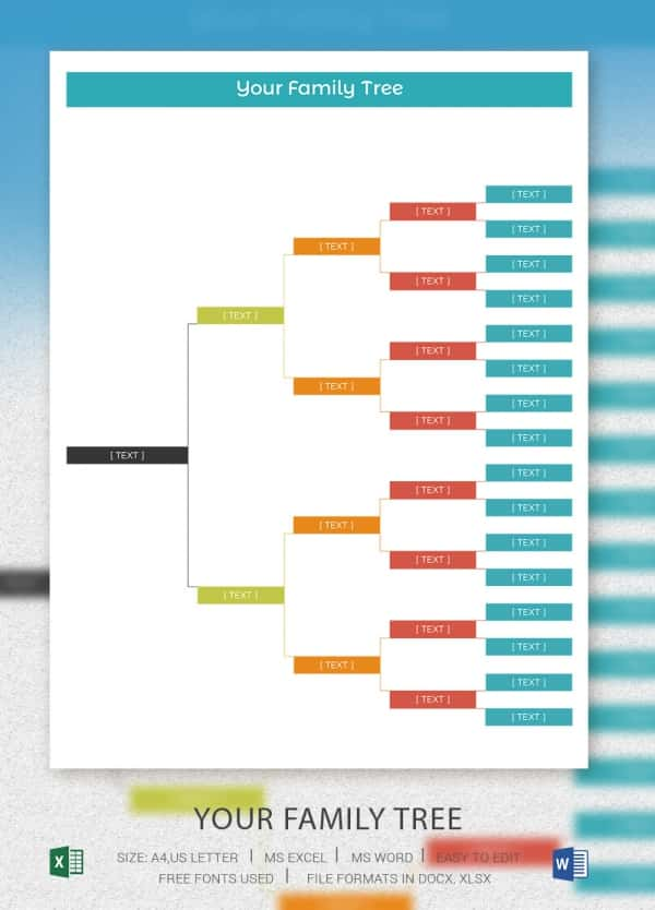 Simple Family Tree Template 25 Free Word Excel PDF Format – Family Tree Template in Word