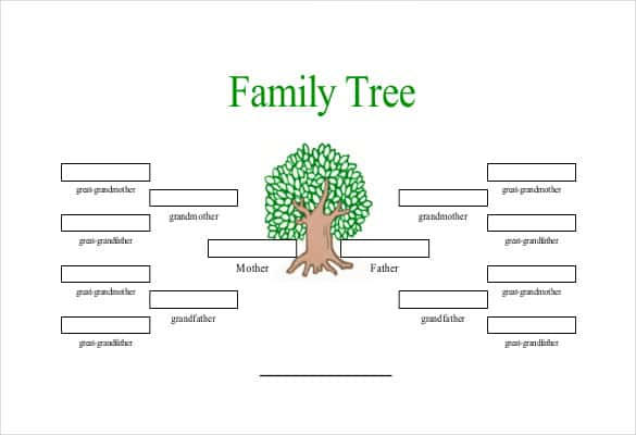 family tree template 6 generations