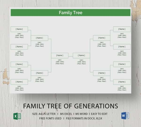 Simple Family Tree Template - 25+ Free Word, Excel, Pdf Format