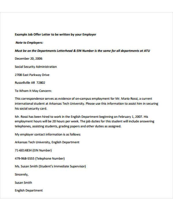 sample job offer letter format2