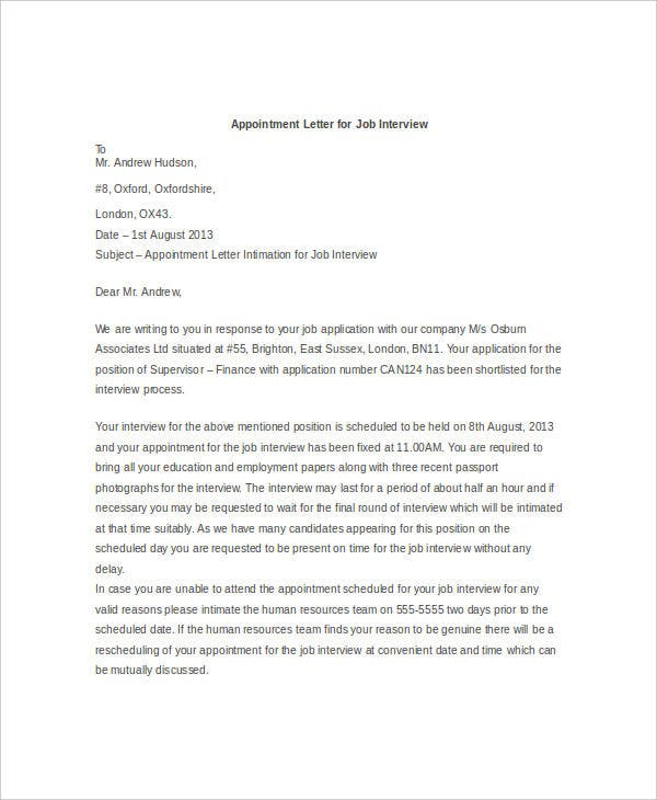 Sample Cover Letter for a Job Application  The Balance