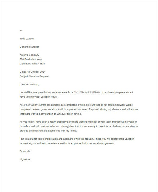 Formal Letter Templates - 45+ Free Word,Pdf Document Download