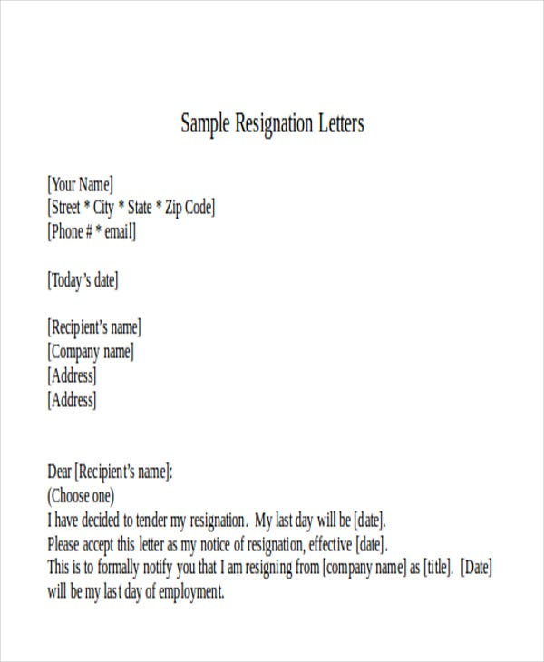 38 Formal Letter Examples – Notify Letter