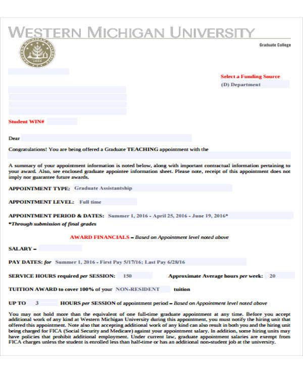 sample appointment letter for college lecturer1