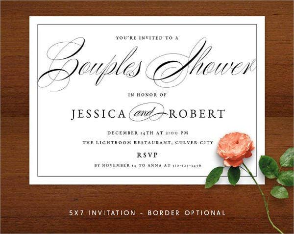 formal wedding shower invitations