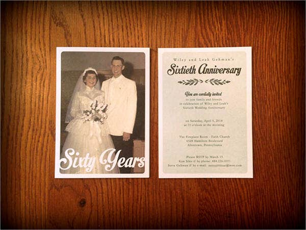 wedding anniversary photo invitations1