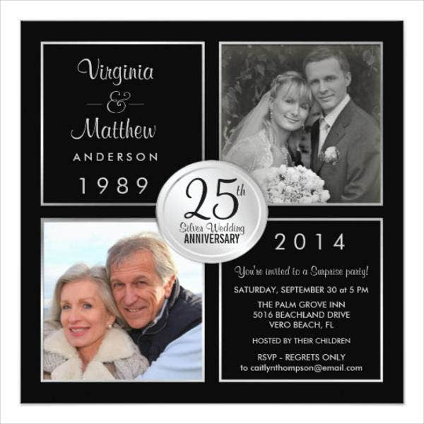 surprise wedding anniversary invitations