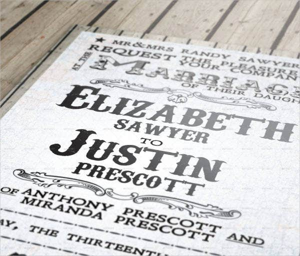 western theme wedding invitations