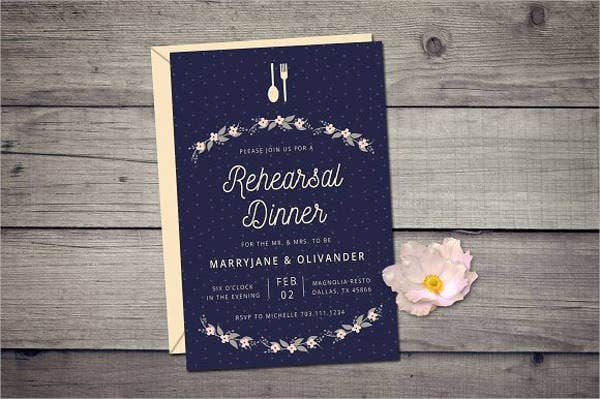 wedding dinner rehearsal invitations