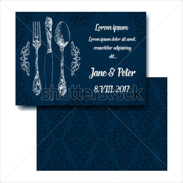 wedding dinner party invitations