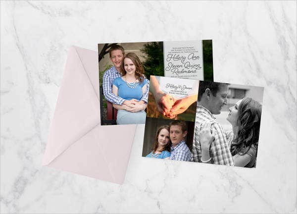 wedding reception photo invitations1