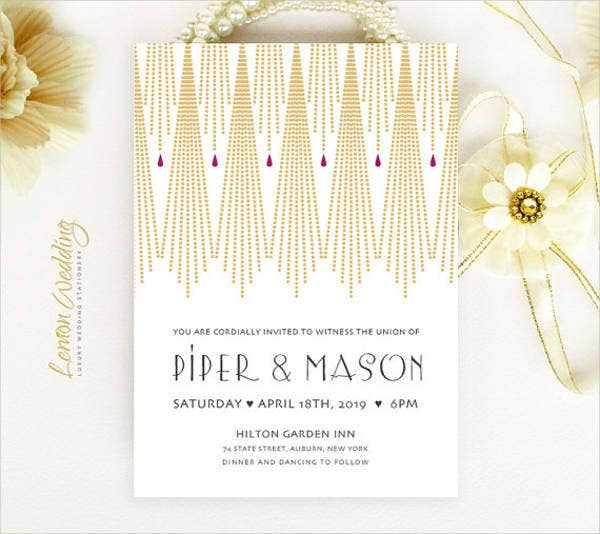 shimmer paper wedding invitations