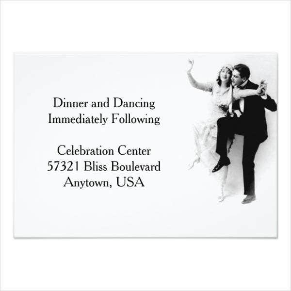 wedding reception dance invitations