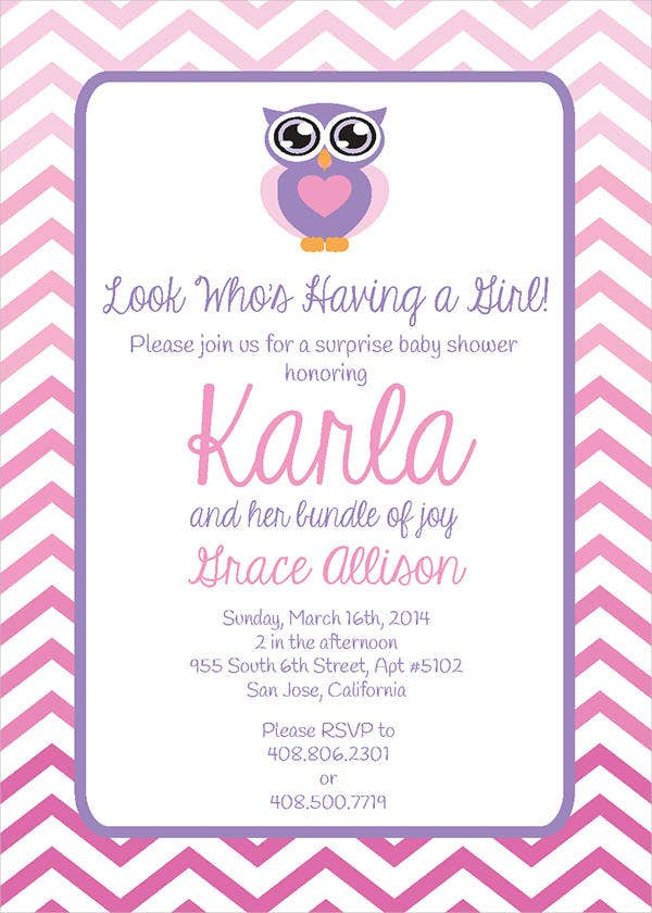 Printable Homemade Baby Shower Invitation
