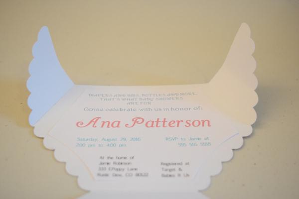 homemade diaper baby shower invitation