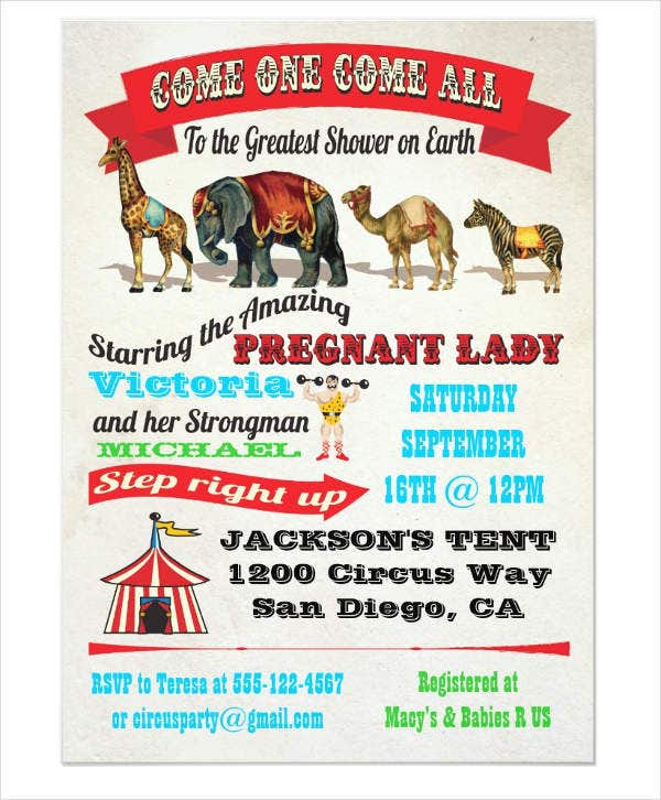 circus-vintage-baby-shower-invitation