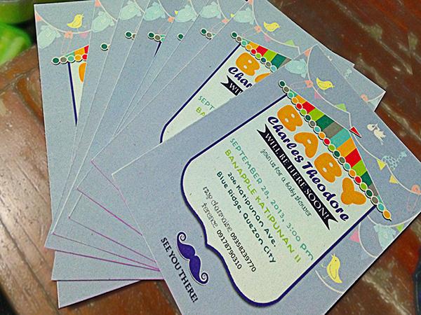 diy baby shower invitation design