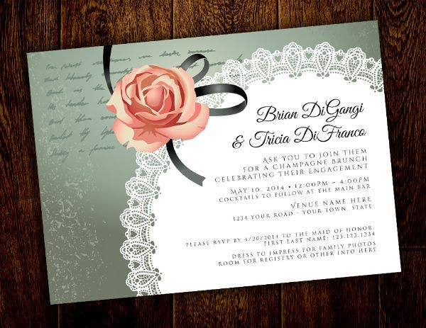 Printable Engagement Invitations Templates  Free  Premium