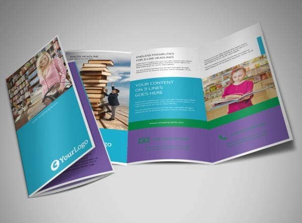 book store trifold brochure