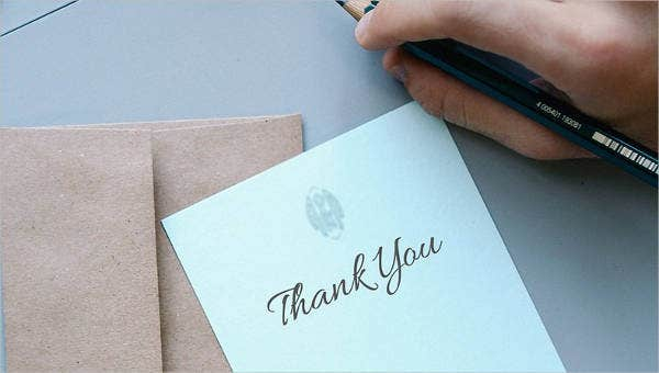 sample thank you letters