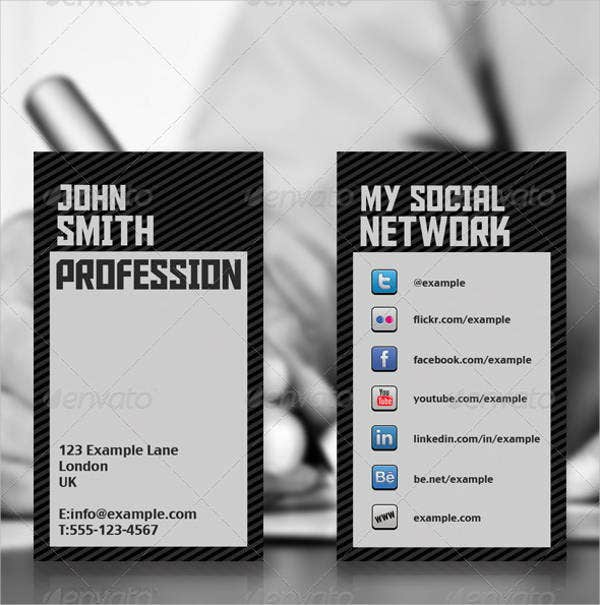 social-network-business-card
