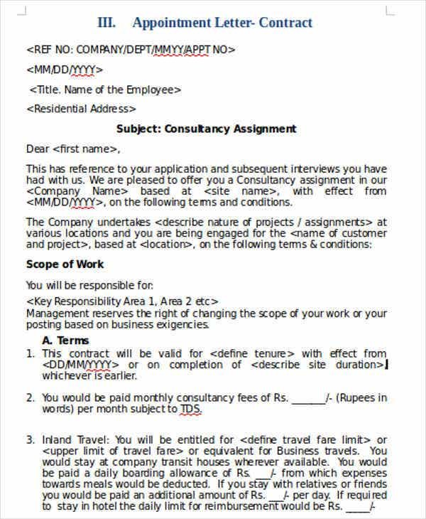 9+ Employee Appointment Letter Templates | Free & Premium Templates