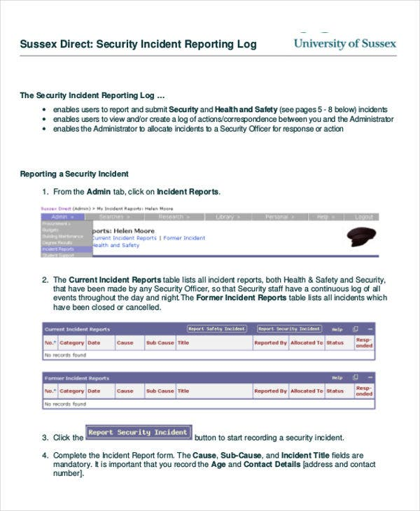 Incident Report Format  Free  Premium Templates