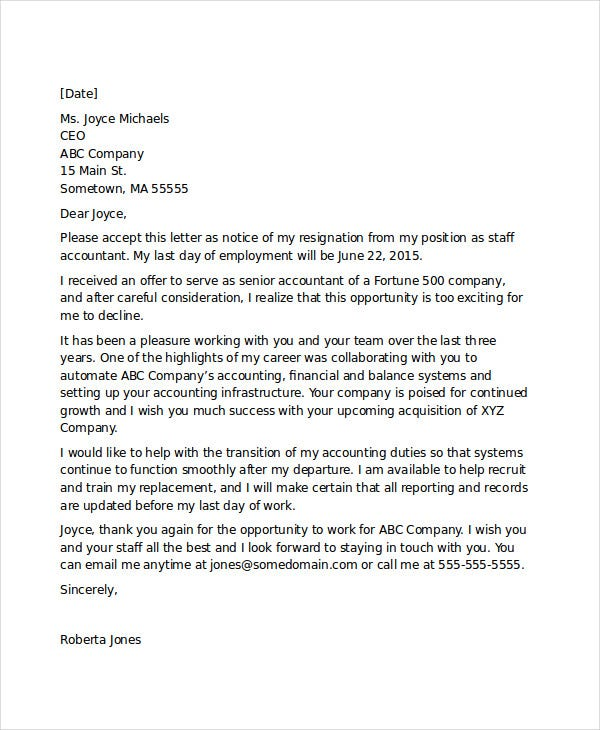 formal resignation letter format1