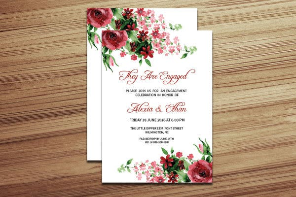 50+ Printable Engagement Invitation Templates - PSD, AI | Free ...