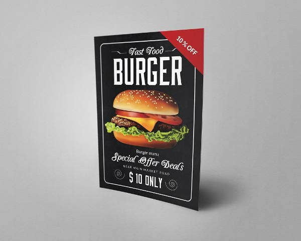 double sided fast food flyer