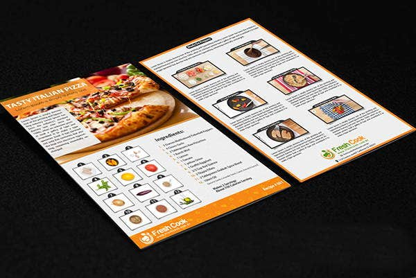double sided cook recipe flyer